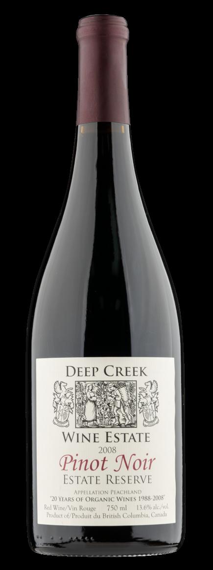 okanagan wine club 2008 Deep Creek Pinot Noir Reserve
